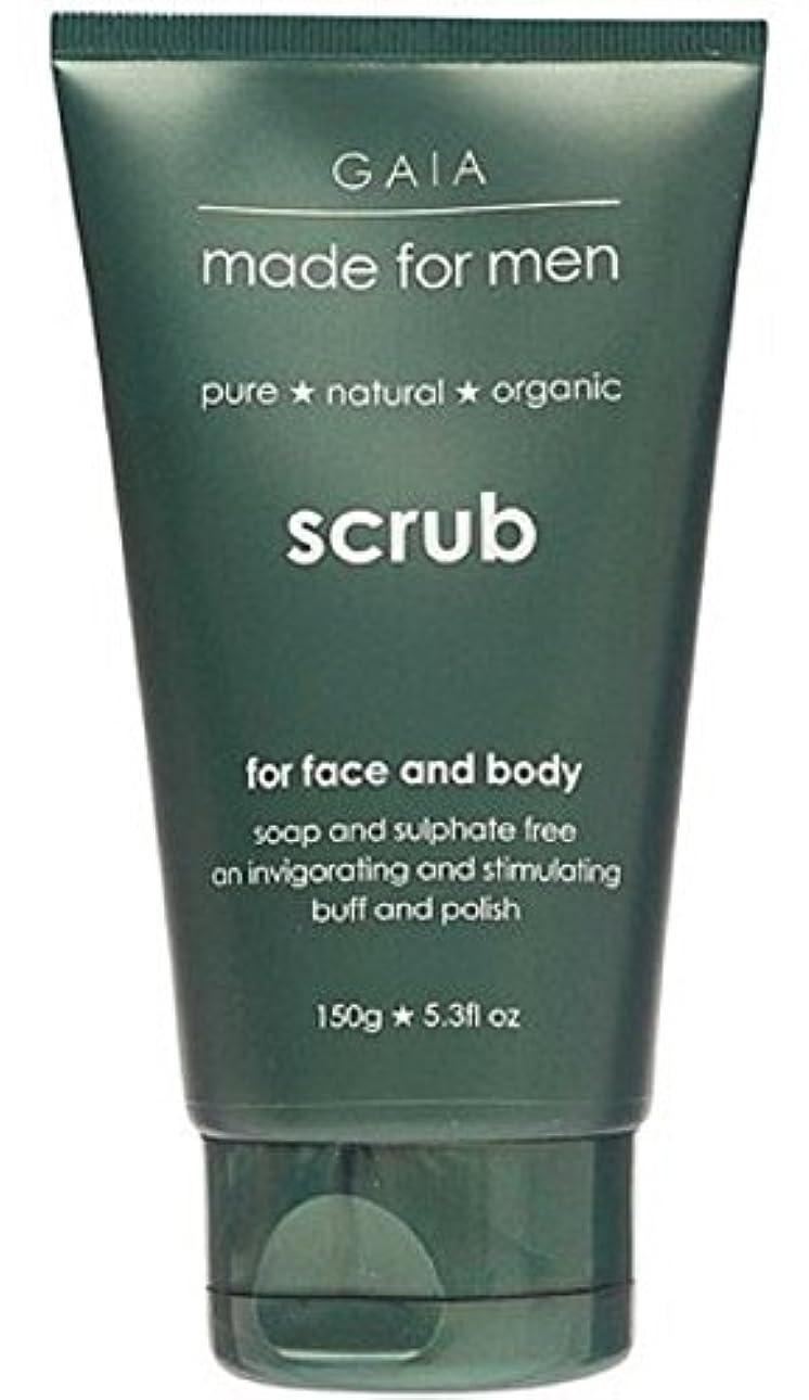 端シート【GAIA】Face & Body Scrub made for men ガイア メンズ フェイス&ボディスクラブ 150g 3個セット