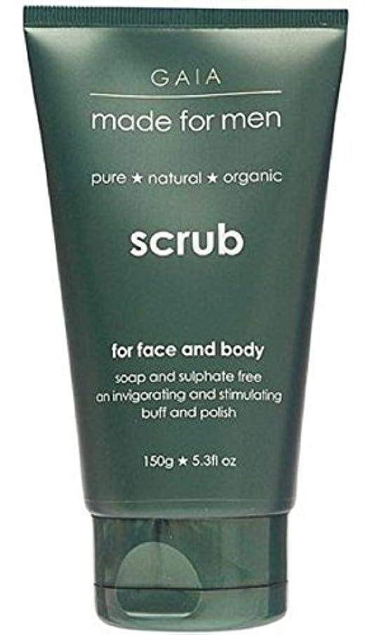認識回復と【GAIA】Face & Body Scrub made for men ガイア メンズ フェイス&ボディスクラブ 150g 3個セット