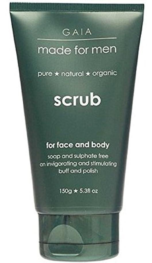 殉教者官僚フラスコ【GAIA】Face & Body Scrub made for men ガイア メンズ フェイス&ボディスクラブ 150g
