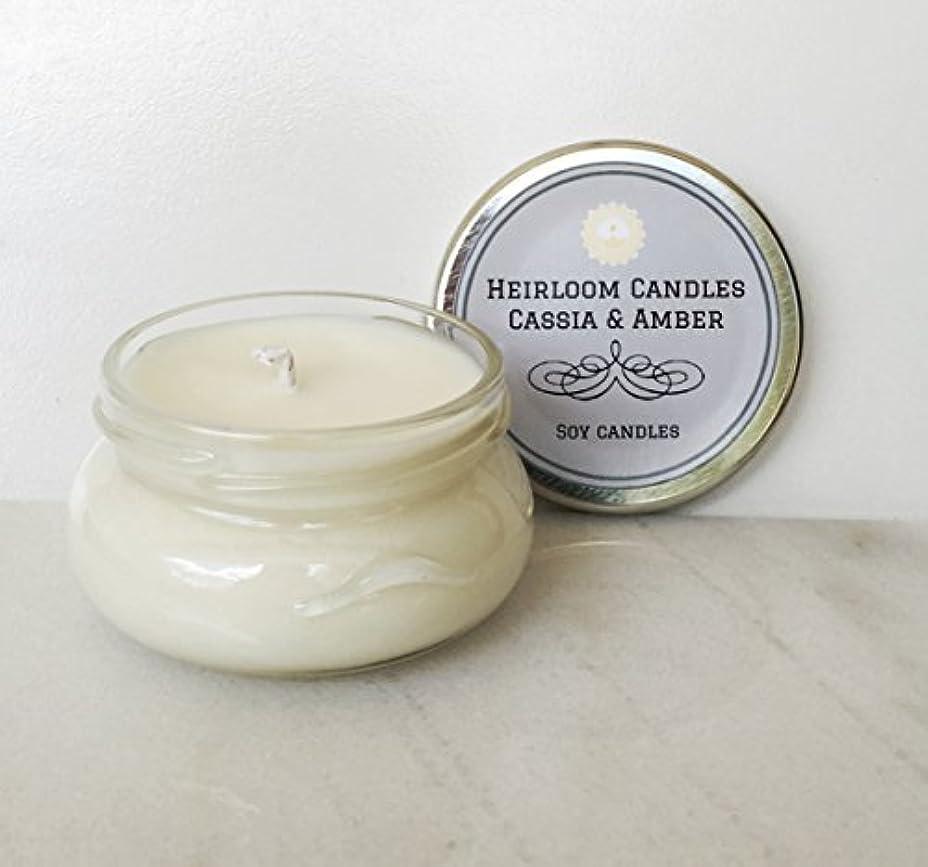 旅行男やもめ以下Cassia & Amber Scented Soy Candle - Handmade Patchouli Eucalyptus 6oz [並行輸入品]