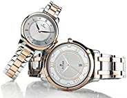 Titan Bandhan Silver White Analog Watch for Pair with Date Function 17752481KM01 White