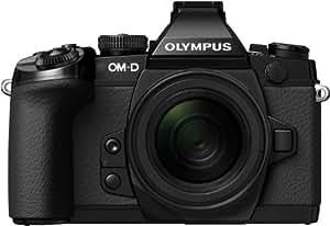 OLYMPUS ミラーレス一眼 OM-D E-M1 12-50mm EZ レンズキット ブラック 防塵 防滴 OM-D E-M1 12-50mm EZ LKIT BLK