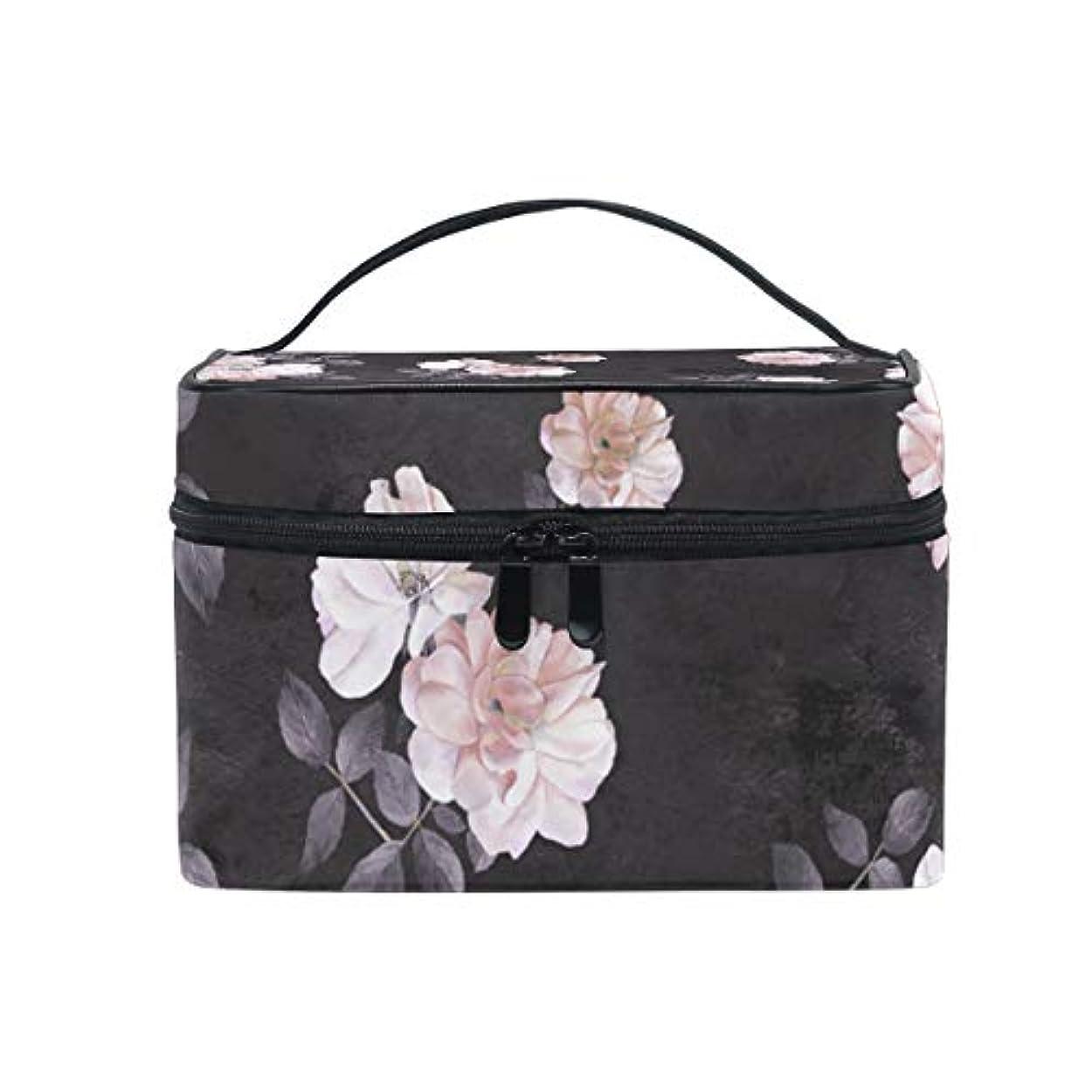 もっと繁栄学者バララ (La Rose) 化粧箱 コスメポーチ 大容量 おしゃれ 機能的 かわいい 花柄 牡丹 和柄 化粧ポーチ メイクポーチ 軽量 小物入れ 収納バッグ 女性 雑貨 プレゼント
