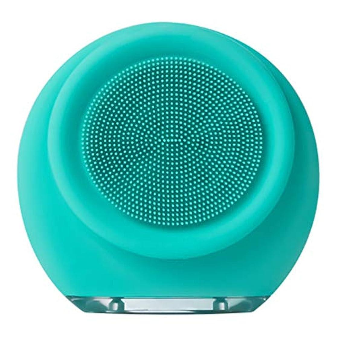 ビュッフェ反毒出力充電式シリコーンクレンジング器、電気超音波美容機器フェイス毛穴クリーナーフロントとバックブラシヘッド3ブロックの調整7防水 (Color : A)