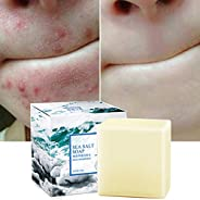 Soap with Sea Salt Natural Goat's Milk for Face Dry and Natural Oily Skin, Remove Acne Anti-cellulite