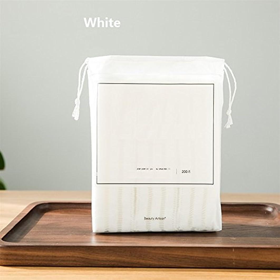 マーケティング彼らのもの労働者Aorunji 柔らかい 高品質ラウンドシェイプコットンパッドワイプパッドコスメティックコットンパッドリントフリーフェイシャルクレンジングメイクアップフィンガー除去(Appr.60pcs) (色 : White)
