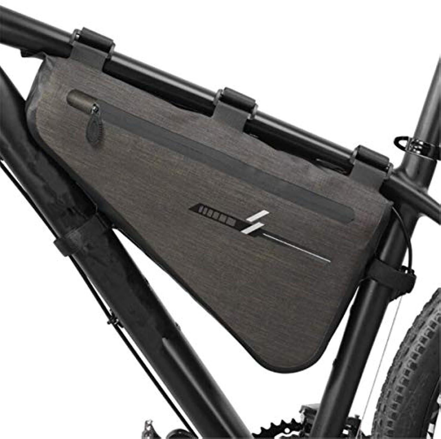 完璧合金カエルHOUTBY 自転車フレーム トップチューブバッグ 三角形 フロントストレージ 防水 自転車ハンドルバー 携帯電話ポーチ