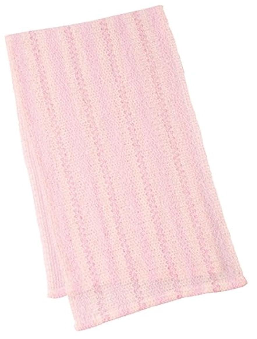 曲げるパフ国歌マーナ ウォーターカラー ボディタオル ピンク B443P