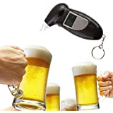 2018プロフェッショナルアルコール呼気テスター飲酒分析計検出器テストキーホルダー飲酒ブリーザーライザーデバイスlcdスクリーン