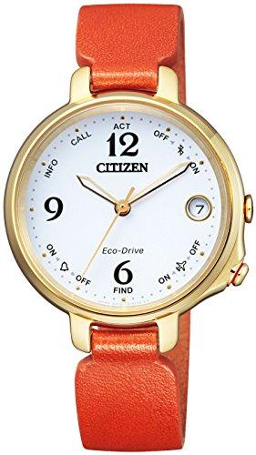 シチズン腕時計 エコ・ドライブ Bluetooth EE4019-11A レディース オレンジ