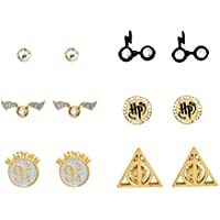 Harry Potter Symbols Stud Earrings, Set of 6 Pairs