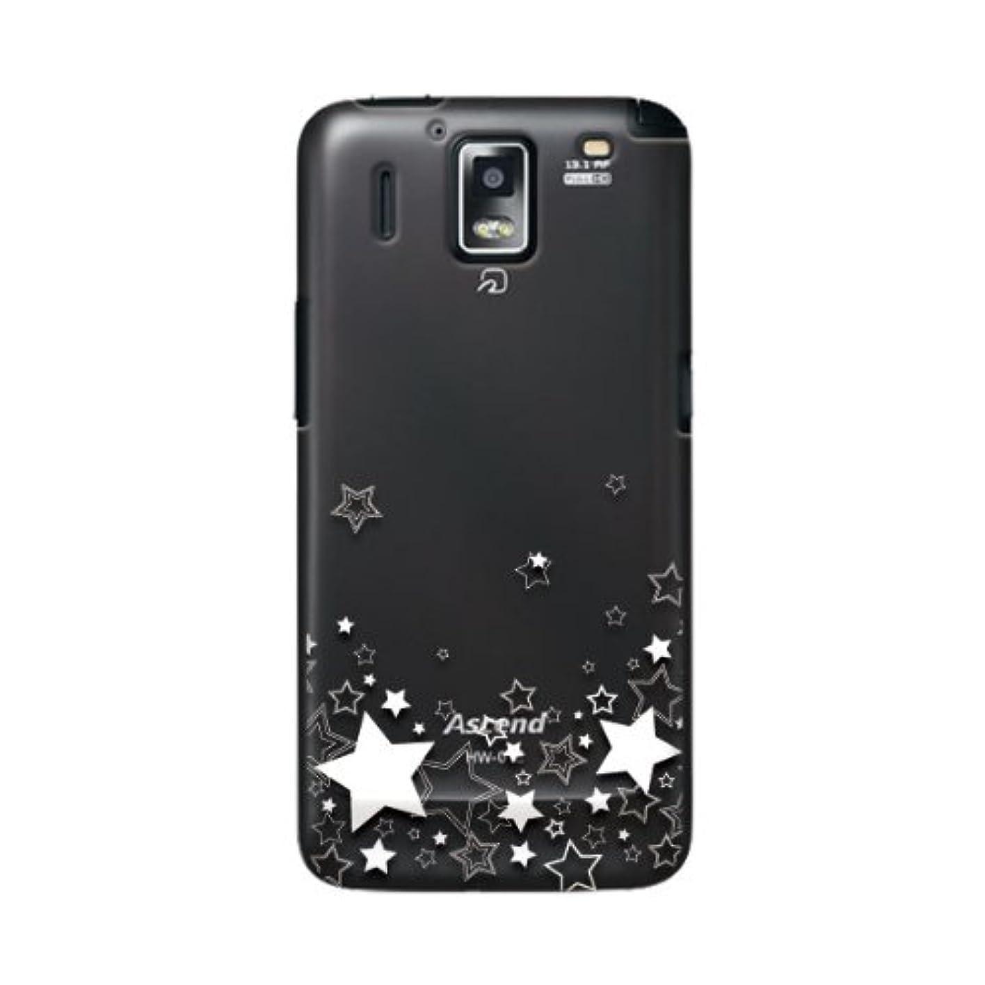 日常的にセッティング最適docomo ドコモ Ascend HW-01E 対応 携帯ケース 1156星 ( クリア )