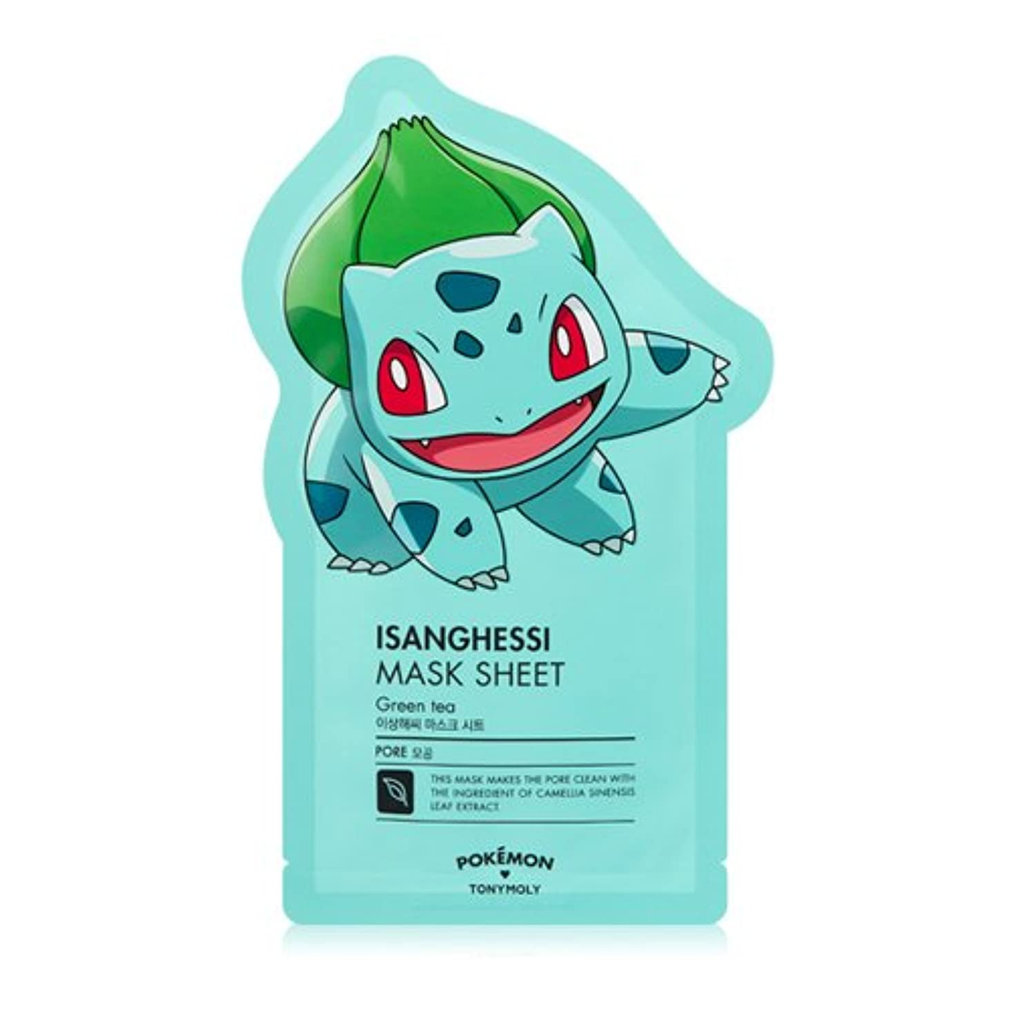 唇ボードペースTONYMOLY x Pokemon Bulbasaur/Isanghessi Mask Sheet (並行輸入品)