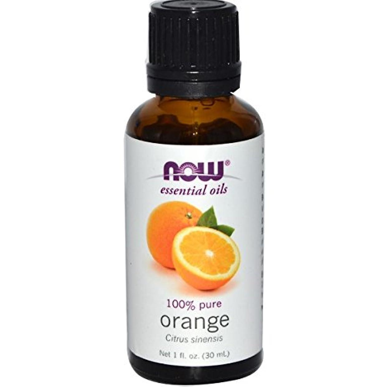 故意にアルネ順応性のあるNOWエッセンシャルオイル オレンジ精油 アロマオイル 30ml 【正規輸入品】