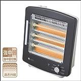 ユーイング 電気ストーブ 3灯石英管ヒーター 900W US-QS900J-K 単品 【1点】