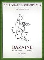 ポスター バゼイン Collegiale De Champeaux 1976 額装品 ウッドベーシックフレーム(グリーン)