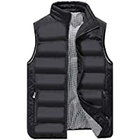 WYSBAOSHU Mens Down Gilets Stand Collar Sleeveless Warm Puffer Vest