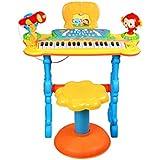 LINGLING-キーボード 電子ピアノ多機能ピアノ子供の音楽玩具楽器 (色 : マルチカラー まるちから゜)