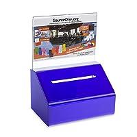 (ソースワン) SourceOne頑丈な募金箱 投票箱 鍵とサインホルダー付き 1 Pack