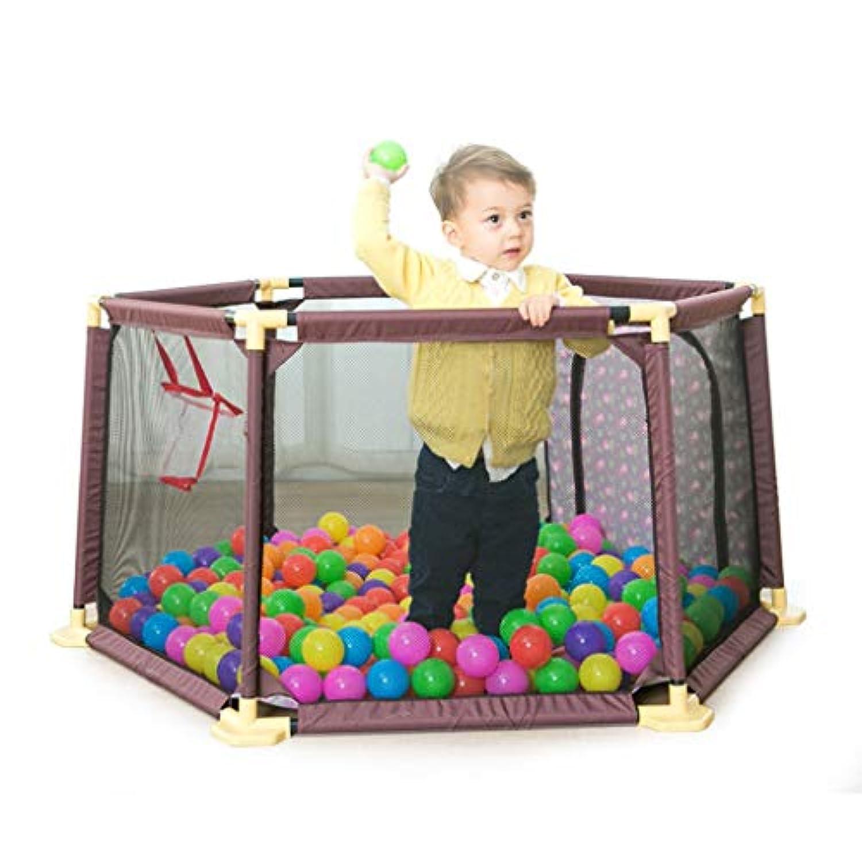 子供の遊びフェンスの幼児の安全フェンス屋内の遊び場の赤ちゃんのクロールマットの幼児 (Color : Brown, Size : 65.5 * 148cm)