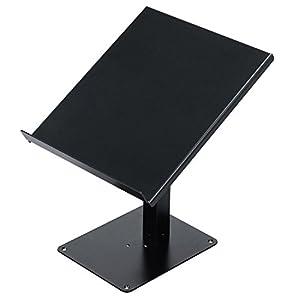 キクタニ CDJスタンド 天板面積:355mm×320mm 高さ:最大415mm 耐荷重10Kg DJ-CDL ブラック