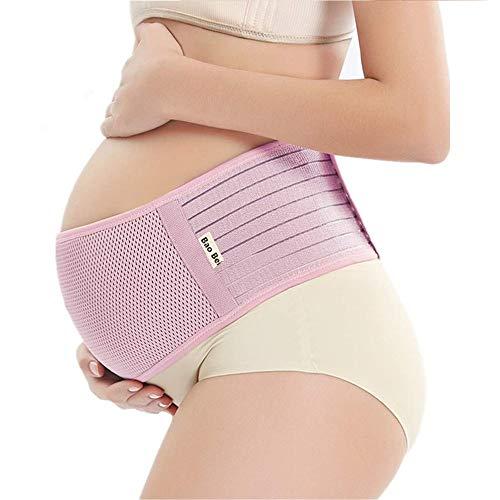 Bao Bei 妊婦帯 腹帯 産前産後 妊娠帯 腰痛 マタニティベルト 骨盤ベルト フリーサイズ 冷房対策 通気性良 簡単装着 ピンク