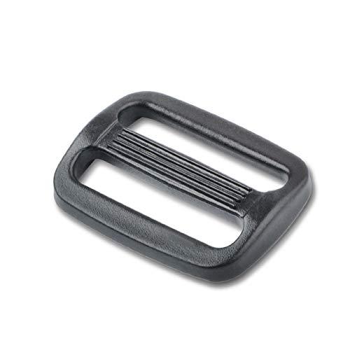 DYZD ベルト送り プラスチック アジャスター バックル 25mm ブラック 10個入り