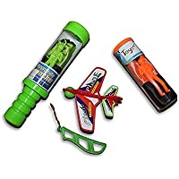 Flying Toys 3 Piece Set Toy Skydiver Parachute Men Tangle Free and Sky Plane with Launcher (Colors and Styles May Vary) [並行輸入品]
