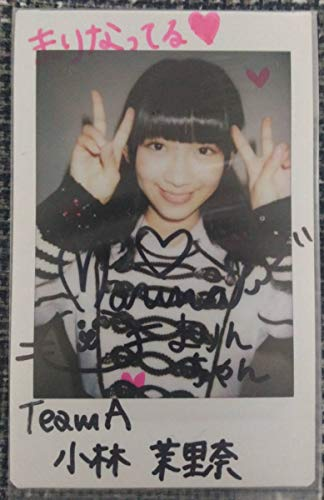 AKB48 小林茉里奈 直筆サイン入りチェキ 真夏のドームツアー DVD SHOP特典
