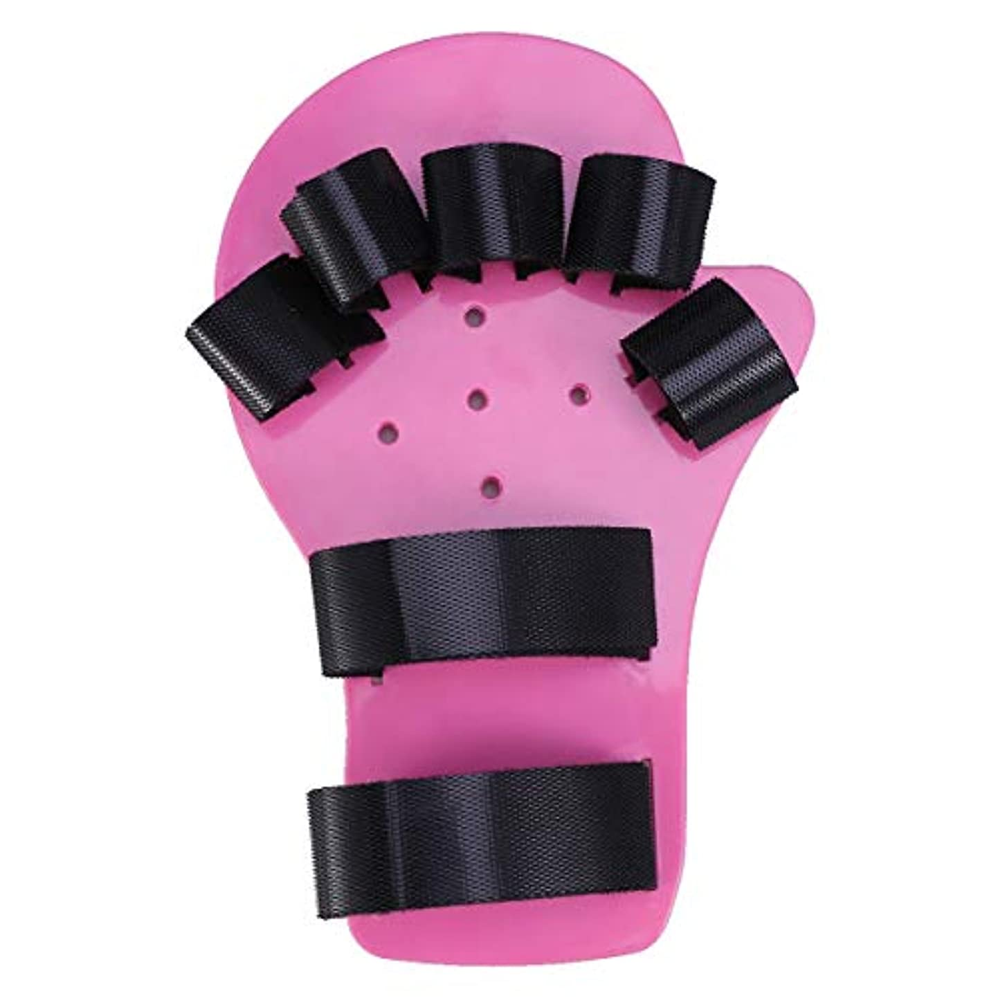 更新する引き金シェアHealifty 指矯正指板ストロークハンドスプリントトレーニングサポート手首トレーニング装具子供用子供子供1-5歳(ロングスタイル、ピンク)