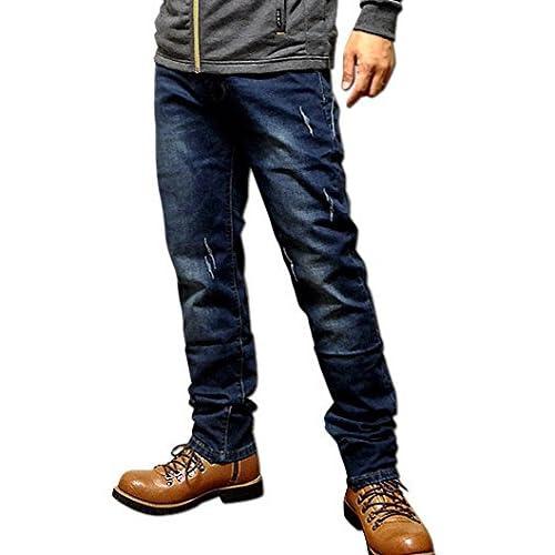 (クラック) Clack メンズ パンツ / ストレート デニムパンツ ジーンズ ウォッシュ加工 ダメージ加工 キレイめ ハイクオリティ デニム M [ 綿98%ポリウレタン2% ] 【正規品】