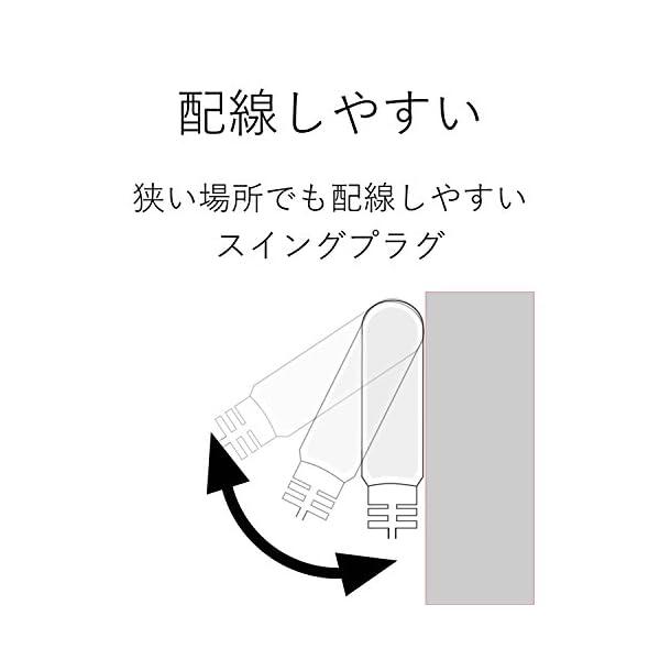 エレコム 電源タップ ほこり防止シャッター付き...の紹介画像3