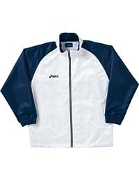 アシックス(asics) ウインドブレーカージャケット OWW508 0150 ホワイト/ネイビー L