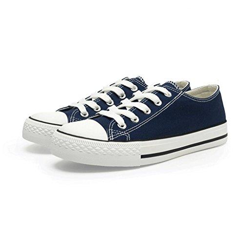 通気性のある学生フラットボトムキャンバスシューズファッションレディースシューズアウトドアスポーツシューズ快適な低靴 ( 色 : 青 , サイズ さいず : 39 )