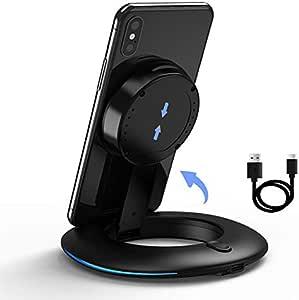 ワイヤレス充電器 SIATOES Qi 認証 最大10W 出力 galaxy s10 ワイヤレス充電 スマートフォンスタンド付き、Samsung Galaxy S20 / Note 10 / S10 S9/ iPhone 12 / 12 Pro / iPhone 11 / 11 Pro / 11 Pro Max / XS / XS Max / XR / X / Huawei Nokia / AirPods/AirPods Pro に対応