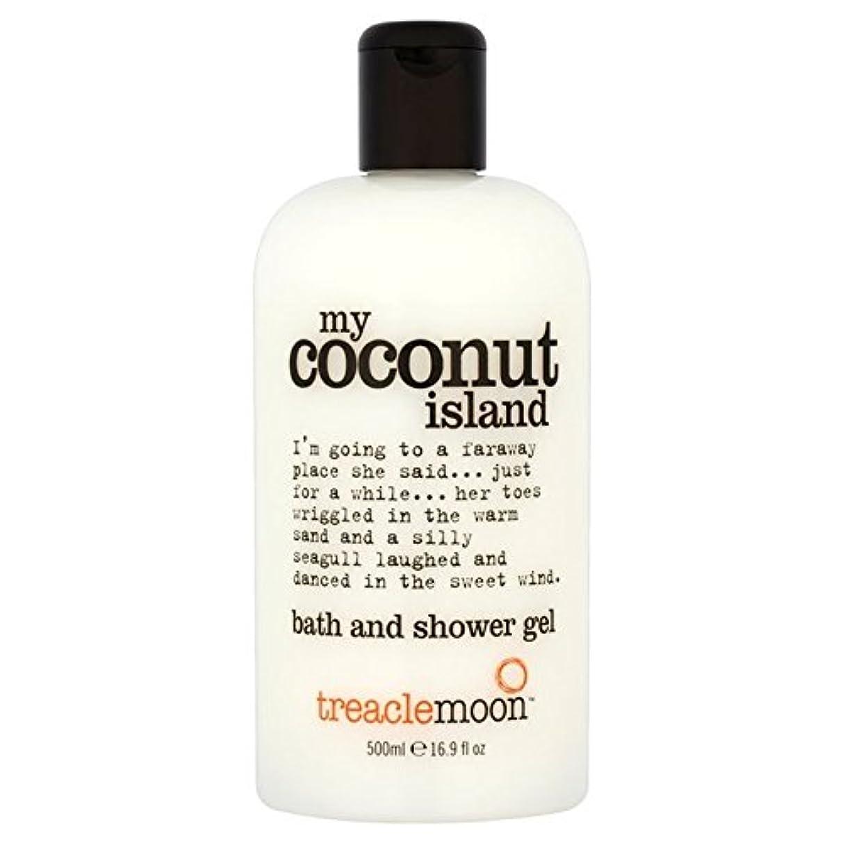 目の前の見えない葉Treacle Moon Coconut Island Bath & Shower Gel 500ml (Pack of 6) - 糖蜜月ココナッツ島のバス&シャワージェル500ミリリットル x6 [並行輸入品]