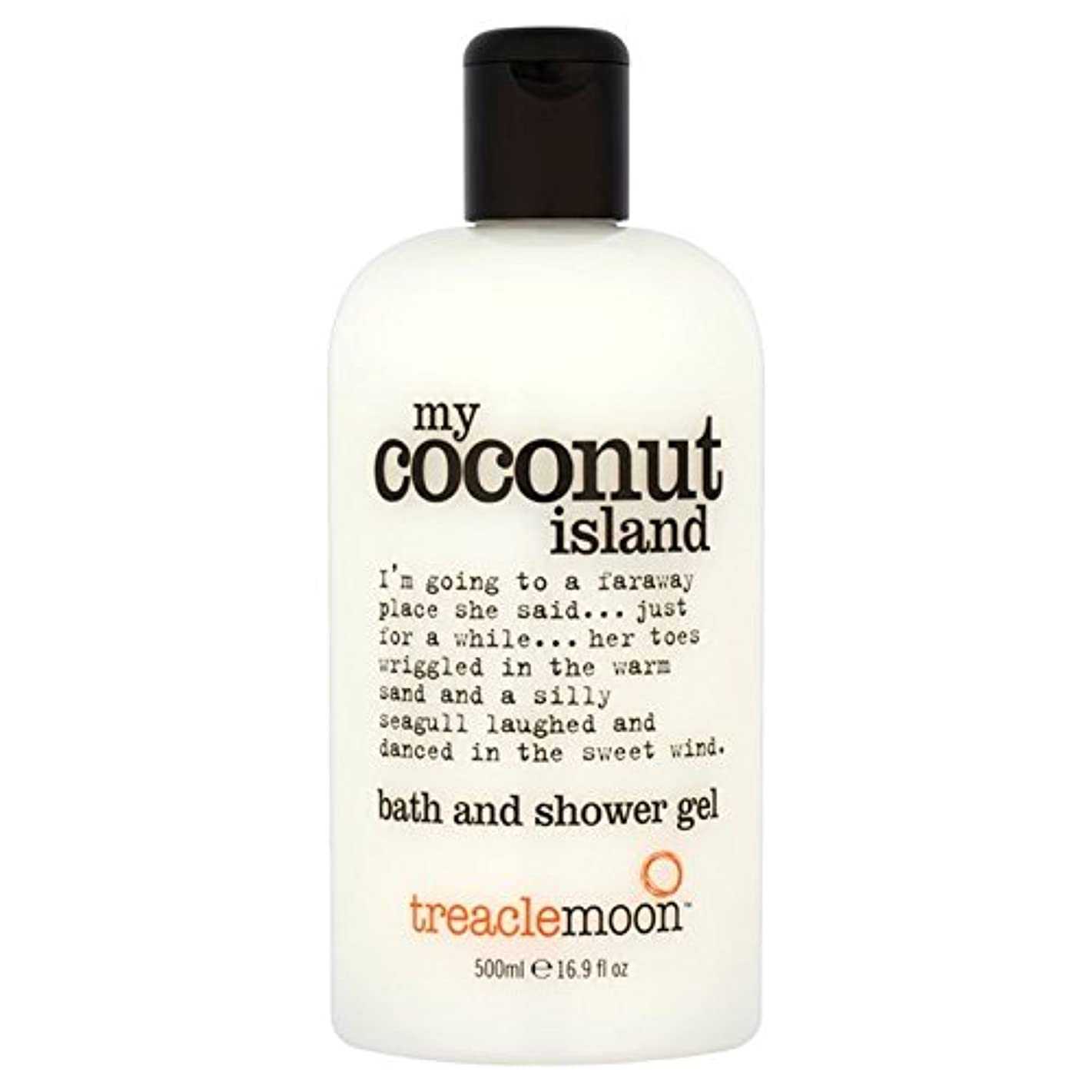 何かトラフ保守可能糖蜜月ココナッツ島のバス&シャワージェル500ミリリットル x4 - Treacle Moon Coconut Island Bath & Shower Gel 500ml (Pack of 4) [並行輸入品]