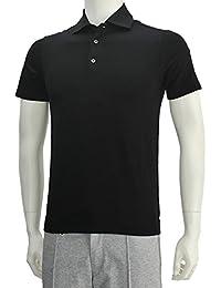 (クルチアーニ)Cruciani メンズ半袖ポロシャツ ストレッチコットン ブラック [並行輸入品]