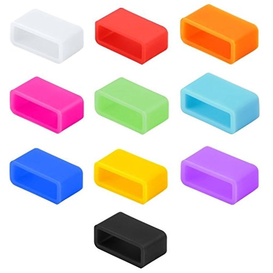 無視するつかの間アンドリューハリディXgeek (10 Color Pack) Fitbit Flexのリストバンド用 シリコーン ファスナー クリップクラスプ (10 Color Pack) [Silicone Fasteners Clips Clasps for Fitbit Flex Wristband]for Both Small and Large Size 【並行輸入品】 色:I-color