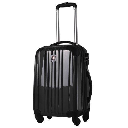 [スイスモビリティ] SWISSMOBILITY スーツケース suitcase TSAロック搭載 キャリーバック PC ABS 素材 ファスナー 鏡面仕上げ 【 MT-5553-02T00】 Cブラック S