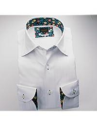 (スタイルワークス) メンズ長袖ワイシャツ ワイドカラー ストライプ | 白