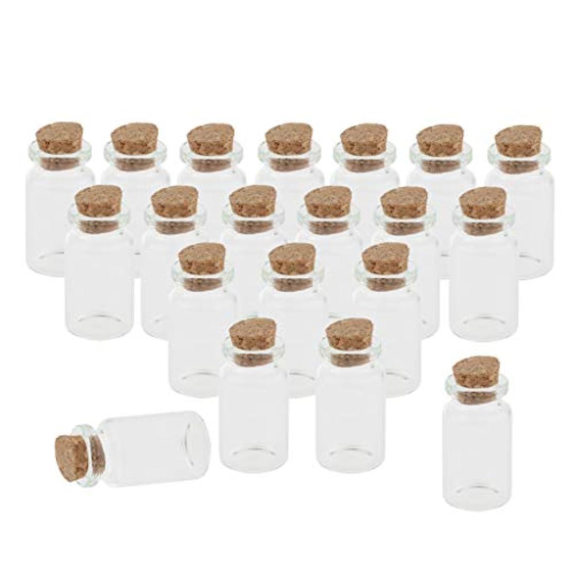 分割オプションとらえどころのないIPOTCH 約20個 ミニ ガラス小瓶 手芸材料 DIYウィッシングボトル ドリフトボトル 香水瓶 アロマ容器
