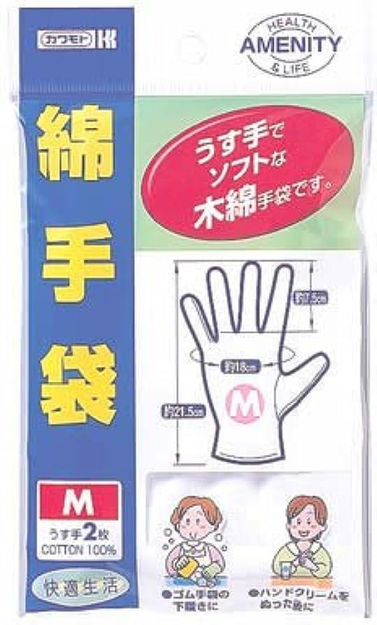 ブローホール楽観的それからカワモト 綿手袋M うす手
