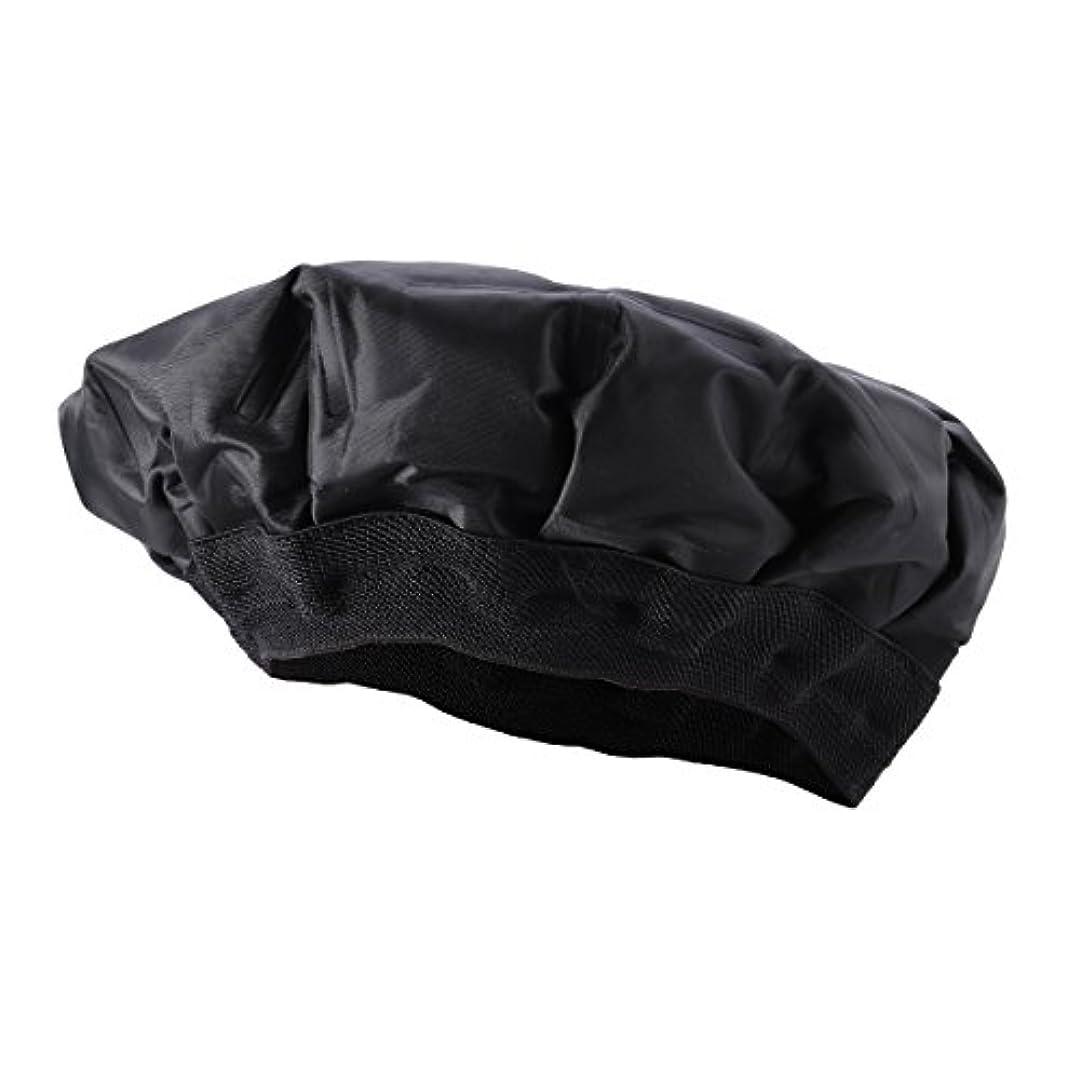 ひどいバーストトラックROSENICE ヘアヒートキャップ加熱ヘアキャップヘアトリートメントキャップ(ブラック)