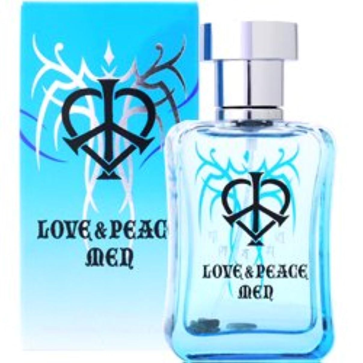 大理石に対して動かすラブ&ピース LOVE&PEACE ラブ&ピース メン オードパルファム EDP SP 50ml
