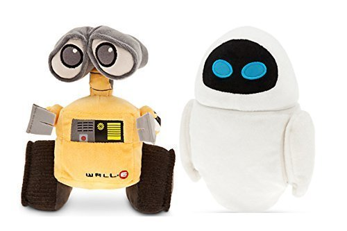 Pixar Animation Studios Character Wall.e and Eve Plush Toy Disney Baby Toy