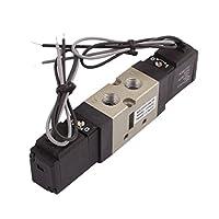 uxcell 空気圧式ソレノイドバルブ AC 110V プラスチック 金属 2ポジション5ウェイ VF3230-3GB
