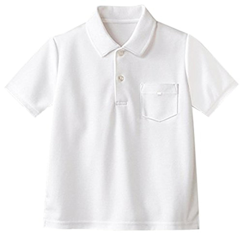 ASHBERRY (アッシュベリー) 綿100%鹿の子半袖ポロシャツ(白)/吸水速乾/男女兼用/10300/