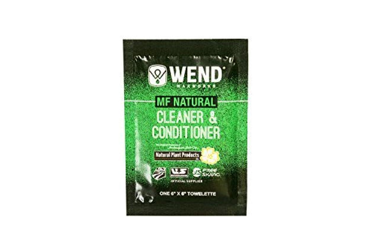 挽く追放する周りWend MF Natural Cleaner/Conditioner Towlette [並行輸入品]