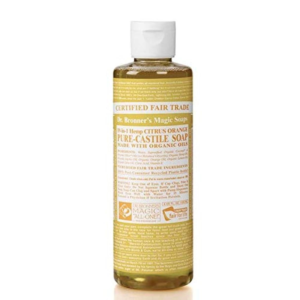 不快すすり泣き民主党[Dr Bronner] Dr。ブロナーズオーガニックシトラスカスティーリャ液体石鹸473ミリリットル - Dr. Bronner's Organic Citrus Castile Liquid Soap 473ml [...